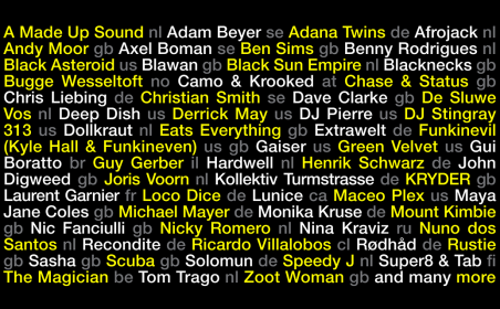 ADE Festival: first glimpse of this years program