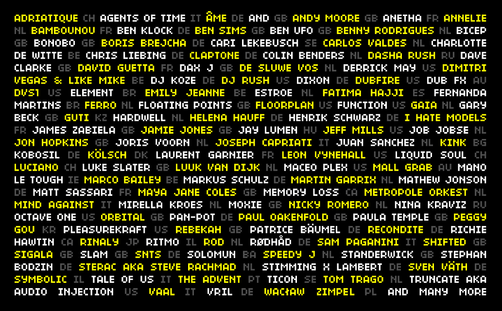 Rounding up the first artists of ADE 2018