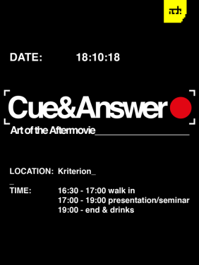 Cue & Answer - Art of the Aftermovie